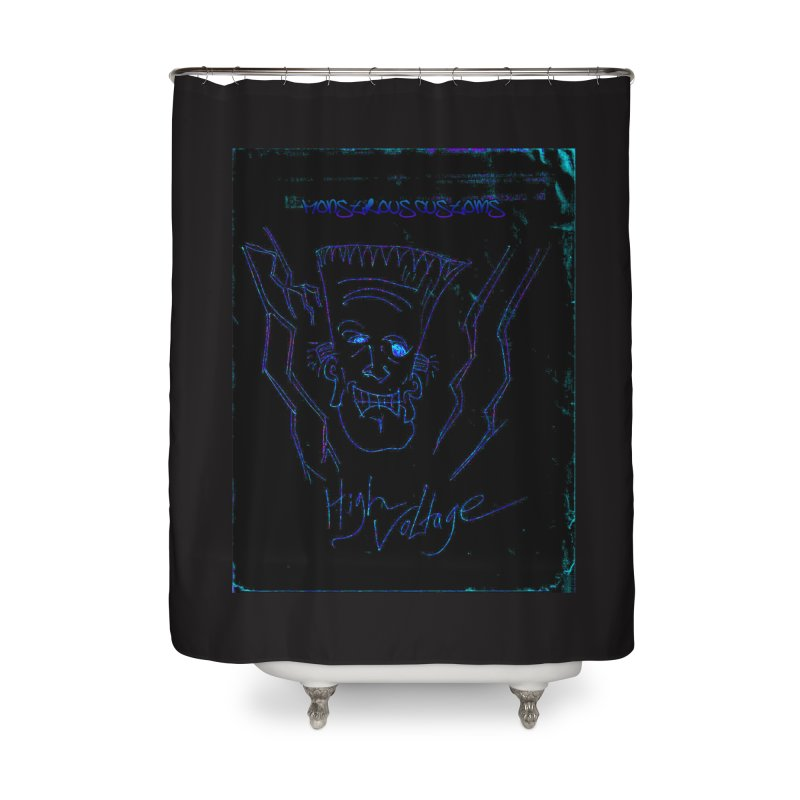 High Voltage Frank2 Home Shower Curtain by Monstrous Customs