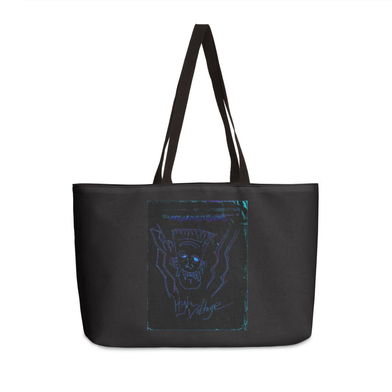 High Voltage Frank2 Accessories Weekender Bag Bag by Monstrous Customs