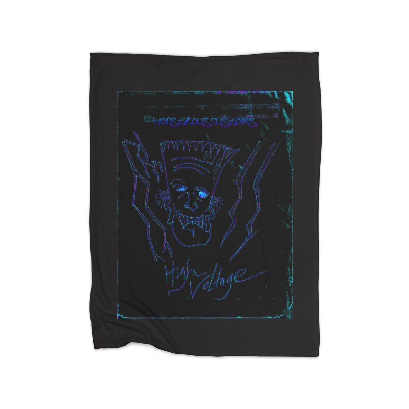 High Voltage Frank2 Home Blanket by Monstrous Customs