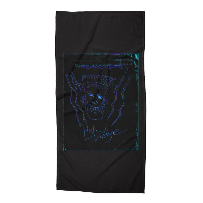 High Voltage Frank2 Accessories Beach Towel by Monstrous Customs