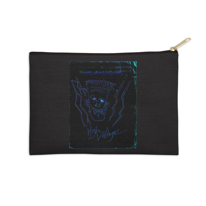 High Voltage Frank2 Accessories Zip Pouch by Monstrous Customs