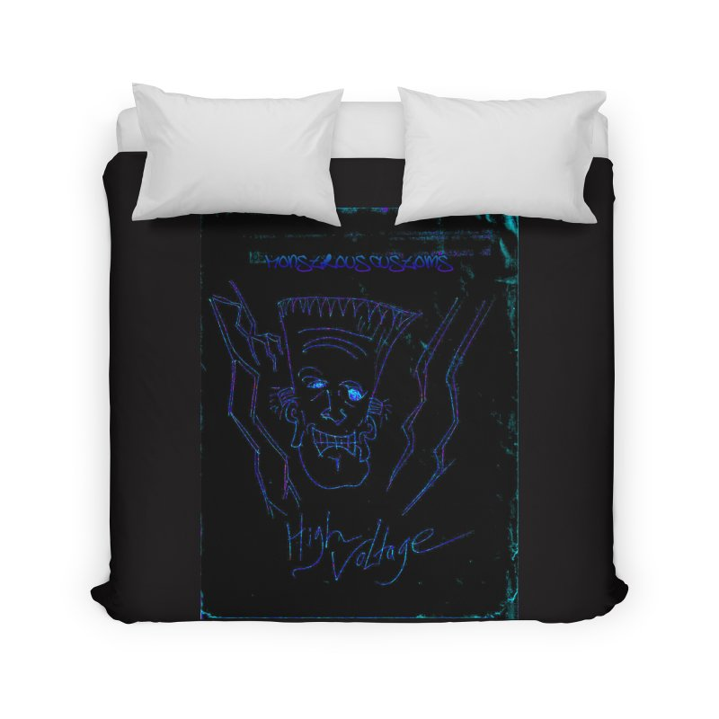 High Voltage Frank2 Home Duvet by Monstrous Customs
