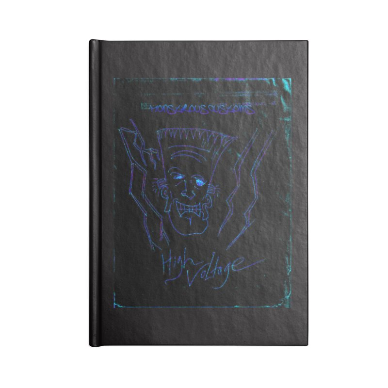 High Voltage Frank2 Accessories Blank Journal Notebook by Monstrous Customs