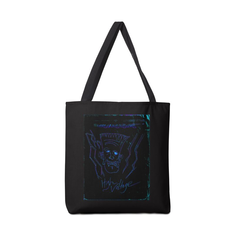 High Voltage Frank2 Accessories Tote Bag Bag by Monstrous Customs