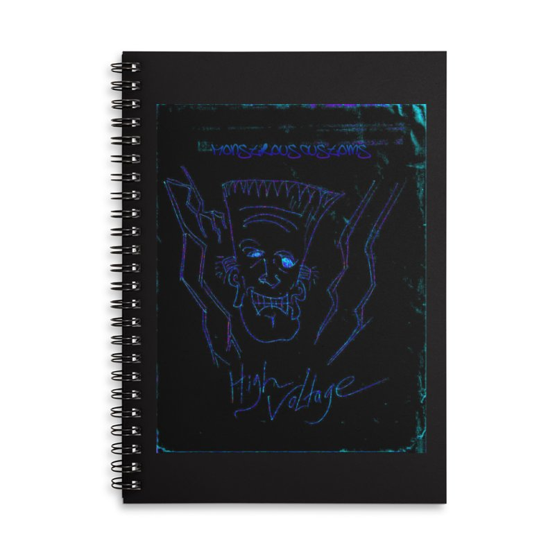 High Voltage Frank2 Accessories Lined Spiral Notebook by Monstrous Customs