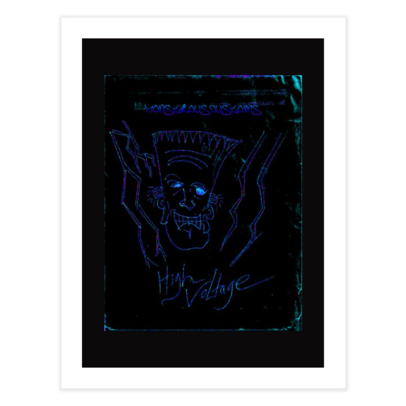 High Voltage Frank2 Home Fine Art Print by Monstrous Customs