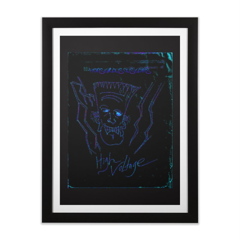 High Voltage Frank2 Home Framed Fine Art Print by Monstrous Customs