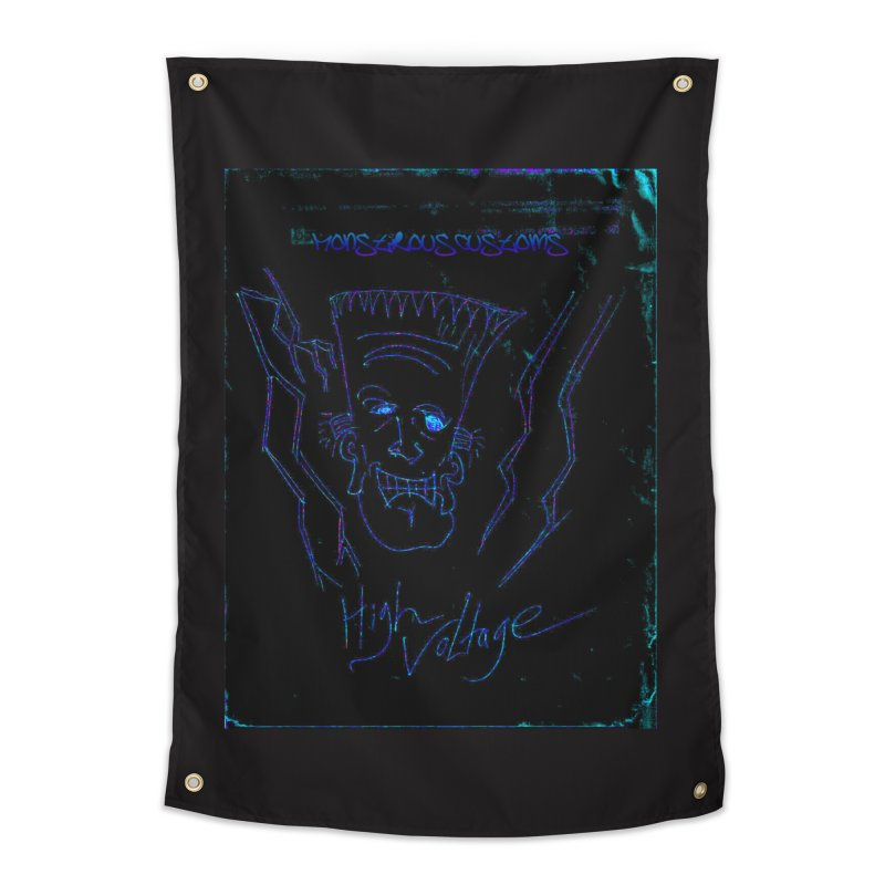 High Voltage Frank2 Home Tapestry by Monstrous Customs