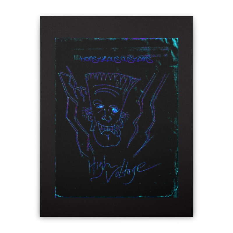 High Voltage Frank2 Home Stretched Canvas by Monstrous Customs