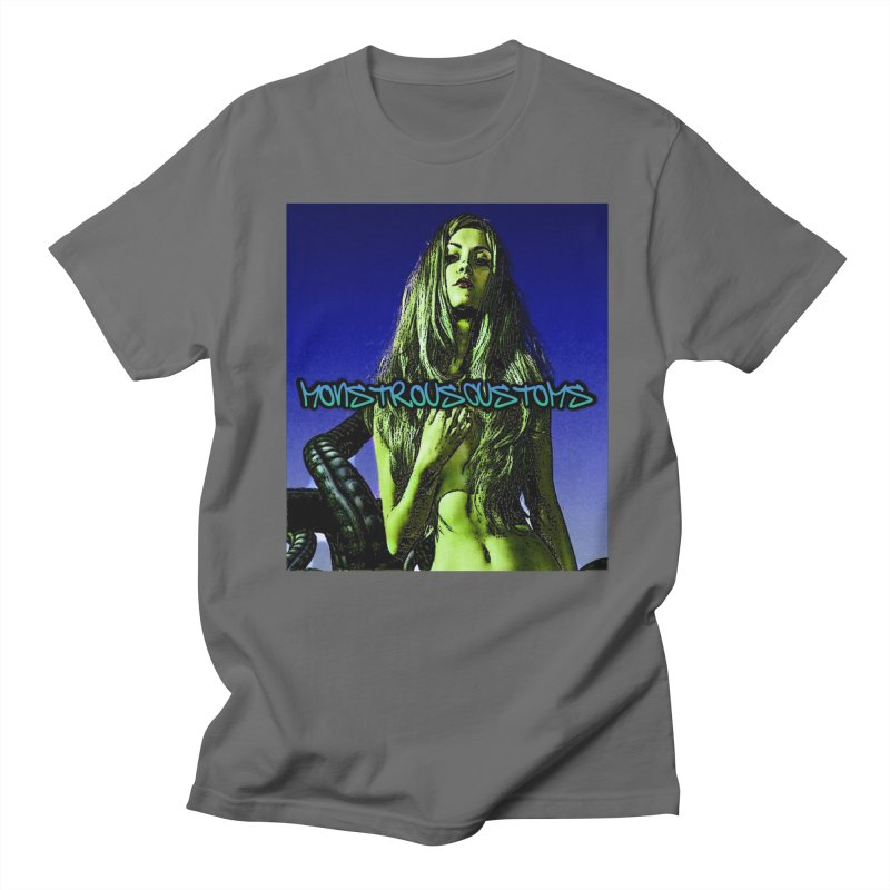 Monstrous Girl Is Hungry Men's French Terry Zip-Up Hoody by Monstrous Customs