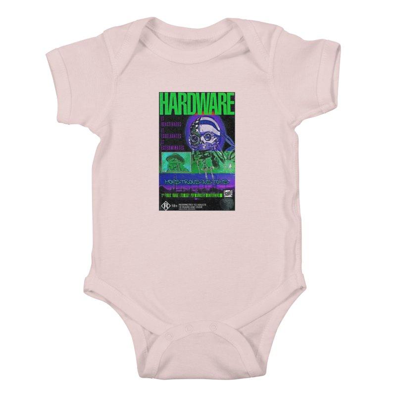 Hardware Kills Kids Baby Bodysuit by Monstrous Customs