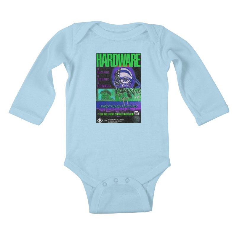 Hardware Kills Kids Baby Longsleeve Bodysuit by Monstrous Customs