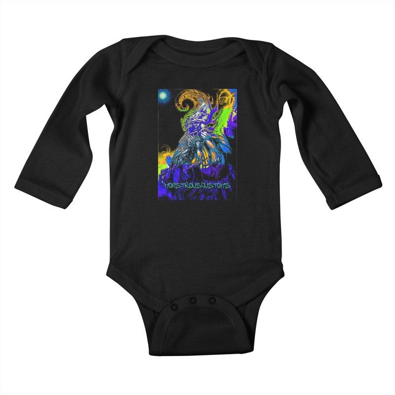 Nyarlathotep Wakes! Kids Baby Longsleeve Bodysuit by Monstrous Customs