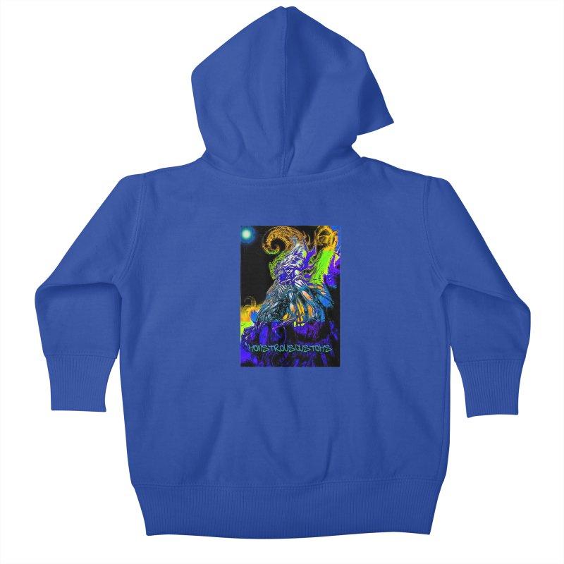 Nyarlathotep Wakes! Kids Baby Zip-Up Hoody by Monstrous Customs