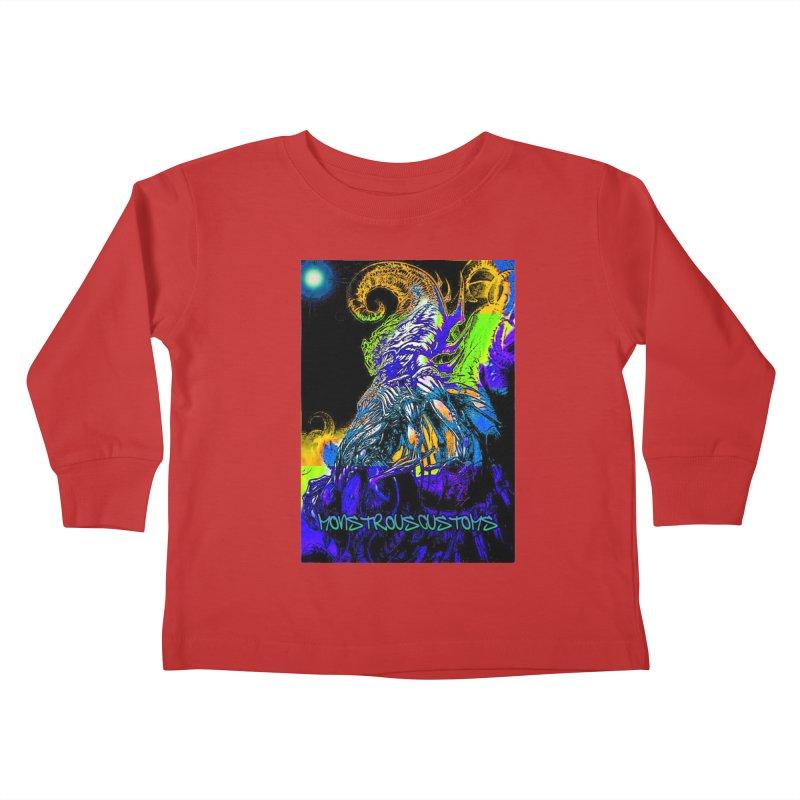 Nyarlathotep Wakes! Kids Toddler Longsleeve T-Shirt by Monstrous Customs