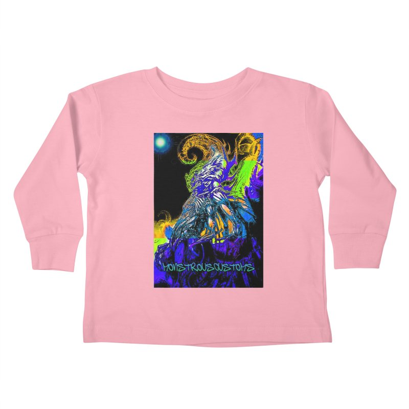 Nyarlathotep Wakes! Kids Toddler Longsleeve T-Shirt by Monstrous Customs