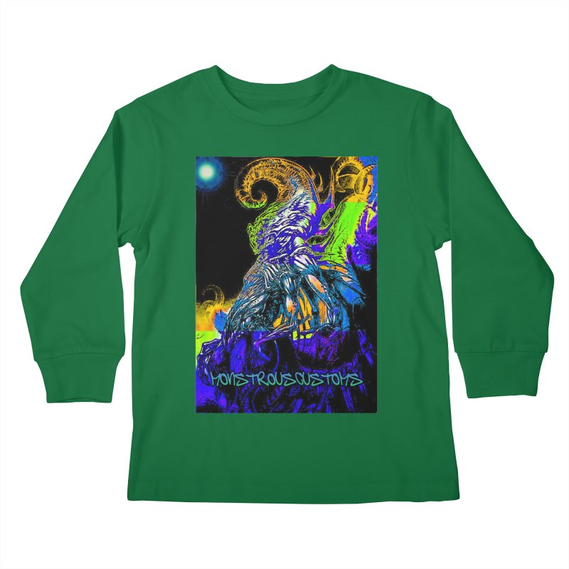 Nyarlathotep Wakes! Kids Longsleeve T-Shirt by Monstrous Customs