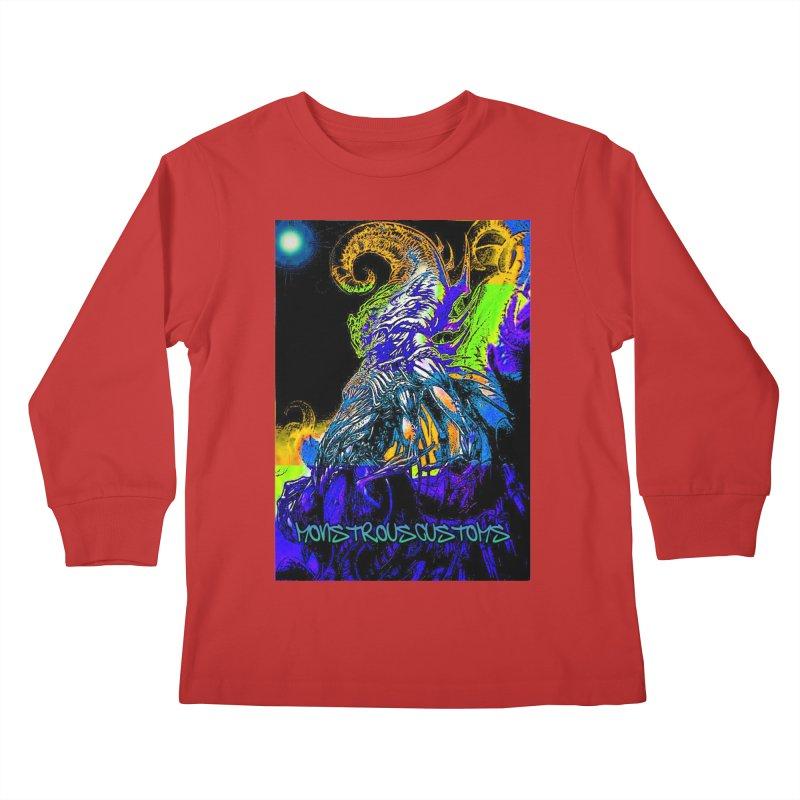 Nyarlathotep Wakes! Kids Longsleeve T-Shirt by Monstrous Customs