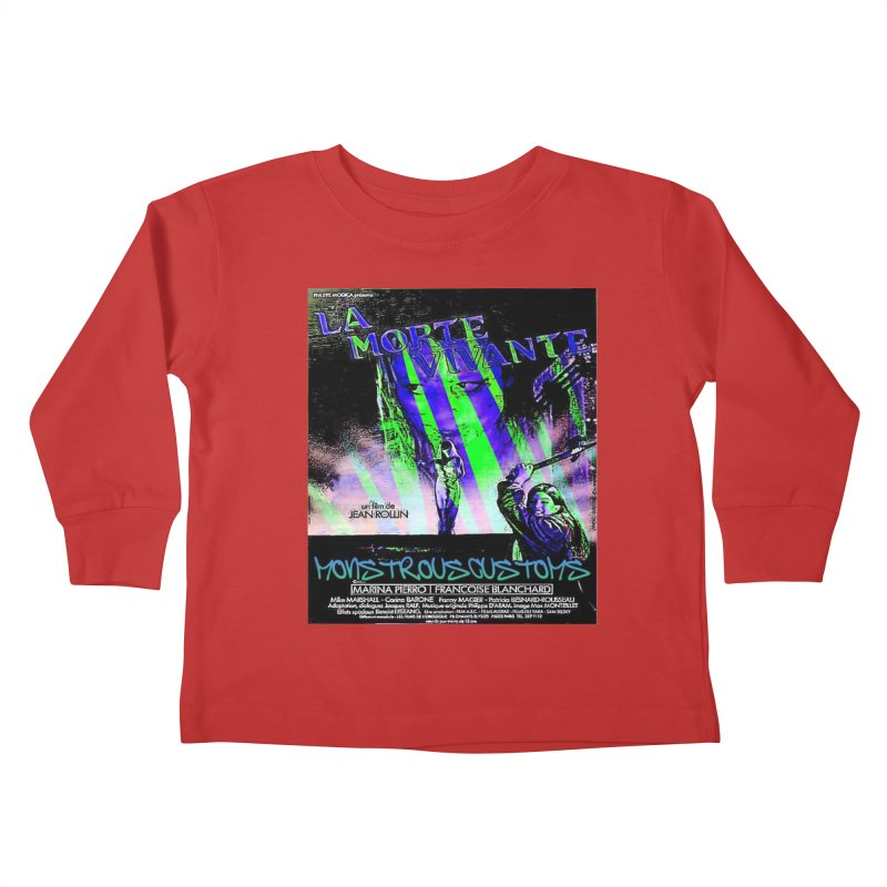 Living Dead Girl Rampage Kids Toddler Longsleeve T-Shirt by Monstrous Customs