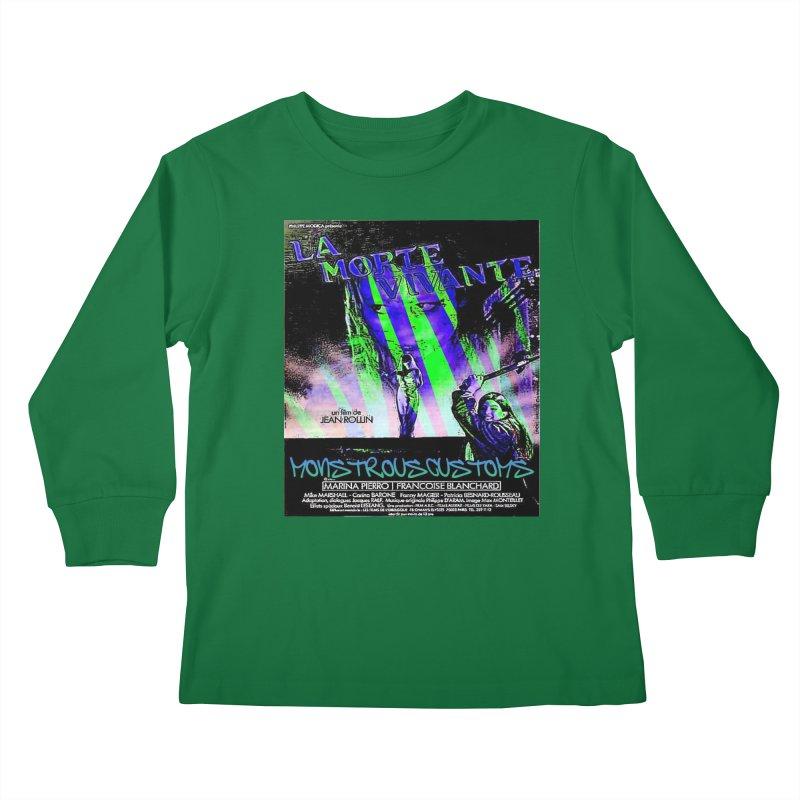 Living Dead Girl Rampage Kids Longsleeve T-Shirt by Monstrous Customs
