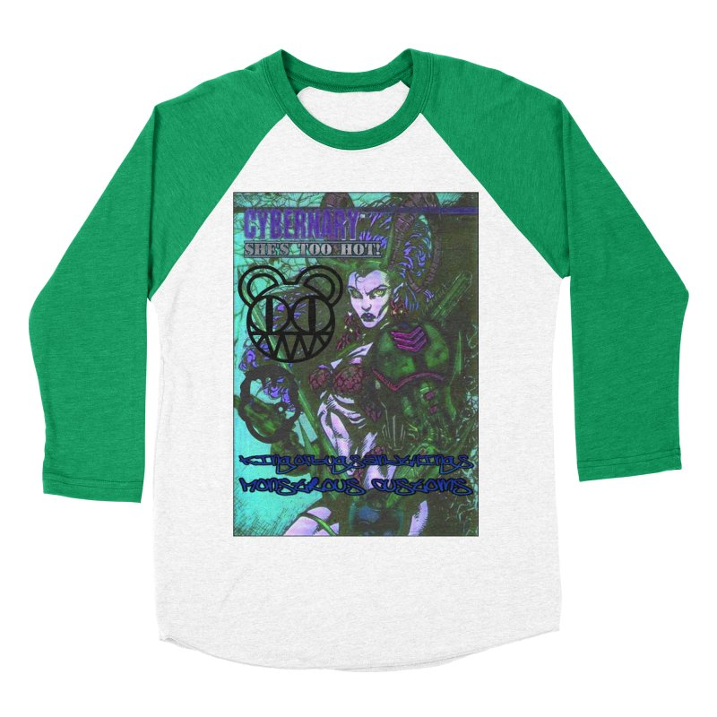 She's Too Hot Women's Baseball Triblend Longsleeve T-Shirt by Monstrous Customs