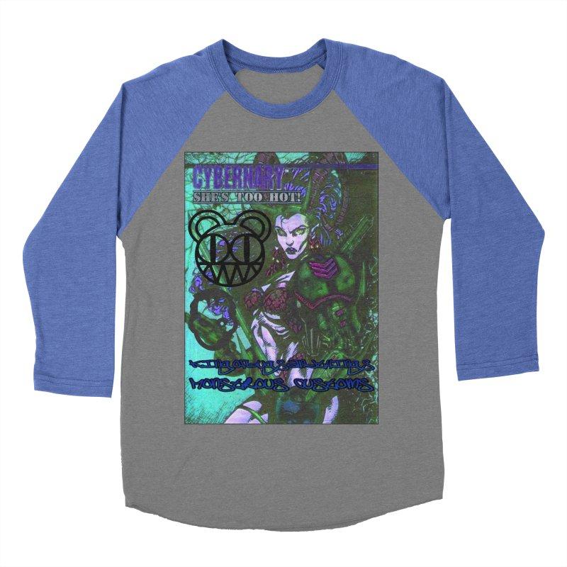 She's Too Hot Men's Baseball Triblend Longsleeve T-Shirt by Monstrous Customs