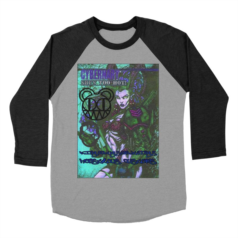 She's Too Hot Men's Baseball Triblend T-Shirt by Monstrous Customs