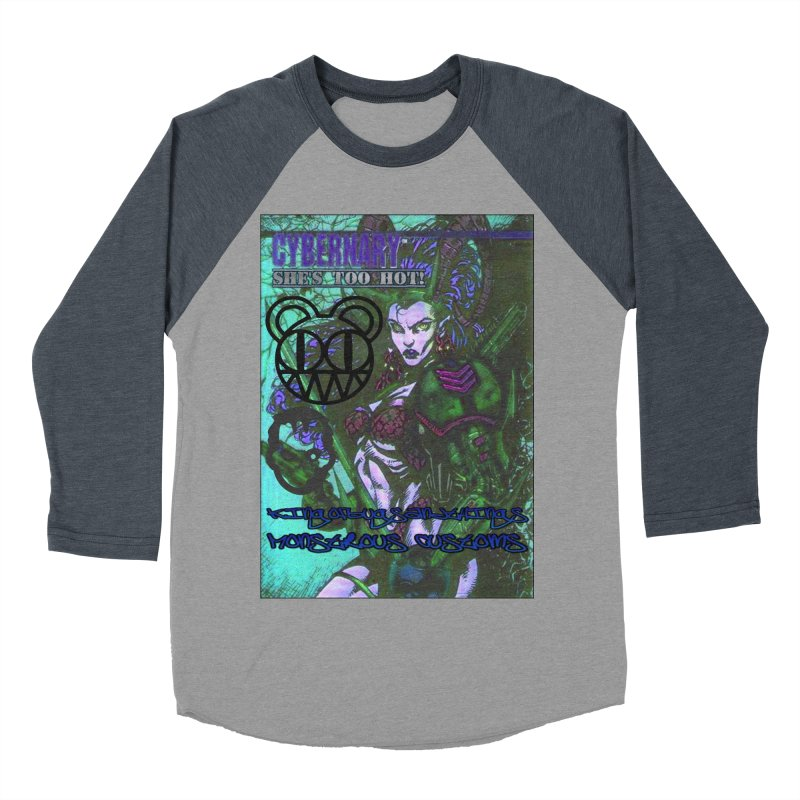 She's Too Hot Men's Baseball Triblend Longsleeve T-Shirt by Monstrous Customs