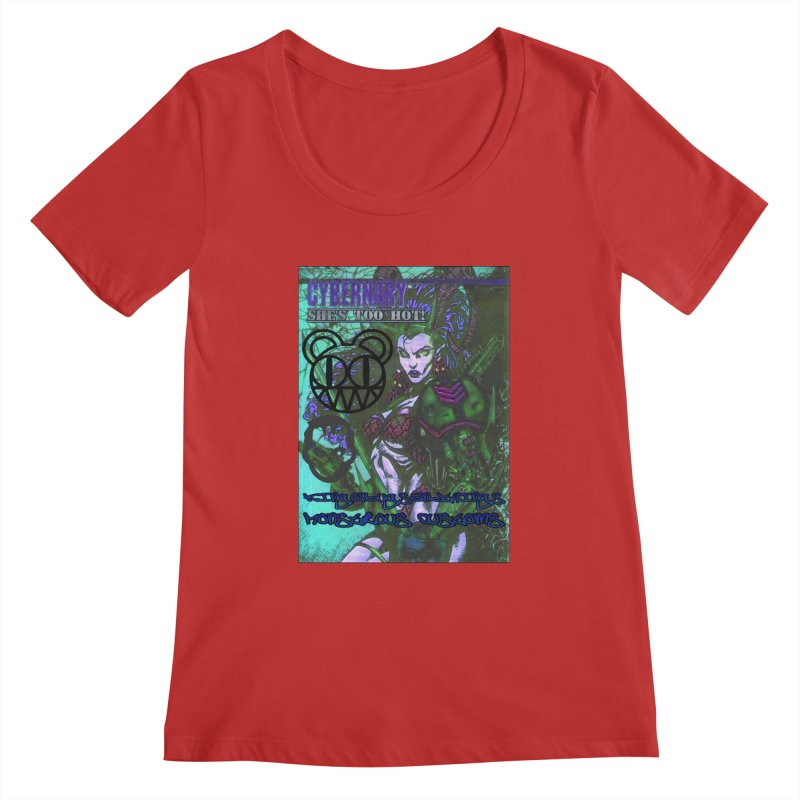 She's Too Hot Women's Scoopneck by Monstrous Customs