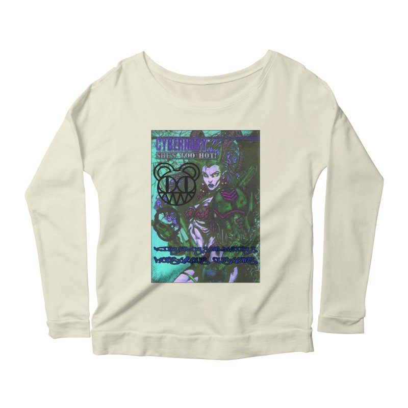 She's Too Hot Women's Scoop Neck Longsleeve T-Shirt by Monstrous Customs