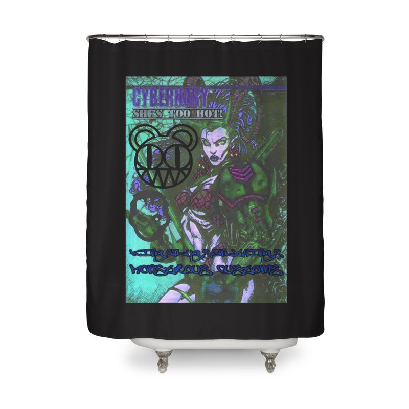 She's Too Hot Home Shower Curtain by Monstrous Customs