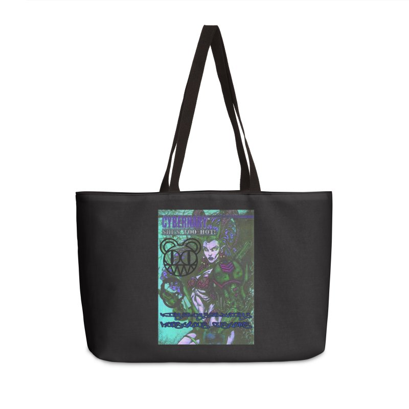 She's Too Hot Accessories Weekender Bag Bag by Monstrous Customs