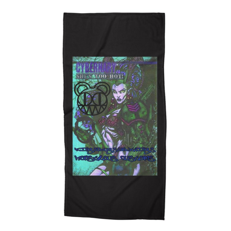 She's Too Hot Accessories Beach Towel by Monstrous Customs