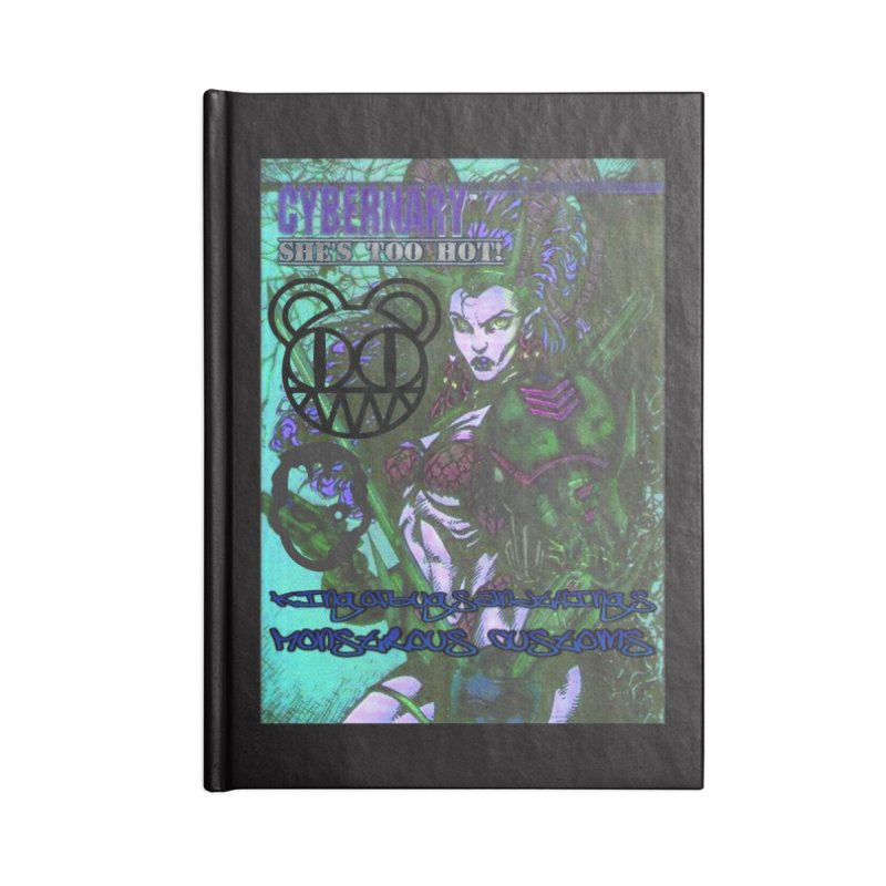 She's Too Hot Accessories Lined Journal Notebook by Monstrous Customs
