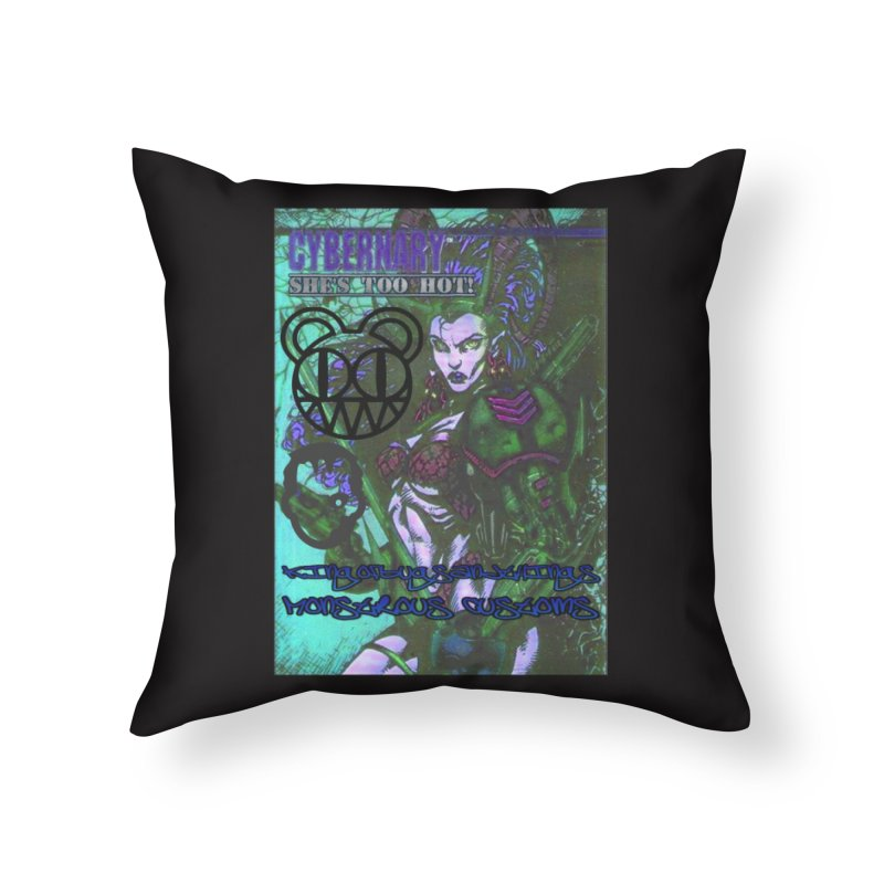 She's Too Hot Home Throw Pillow by Monstrous Customs