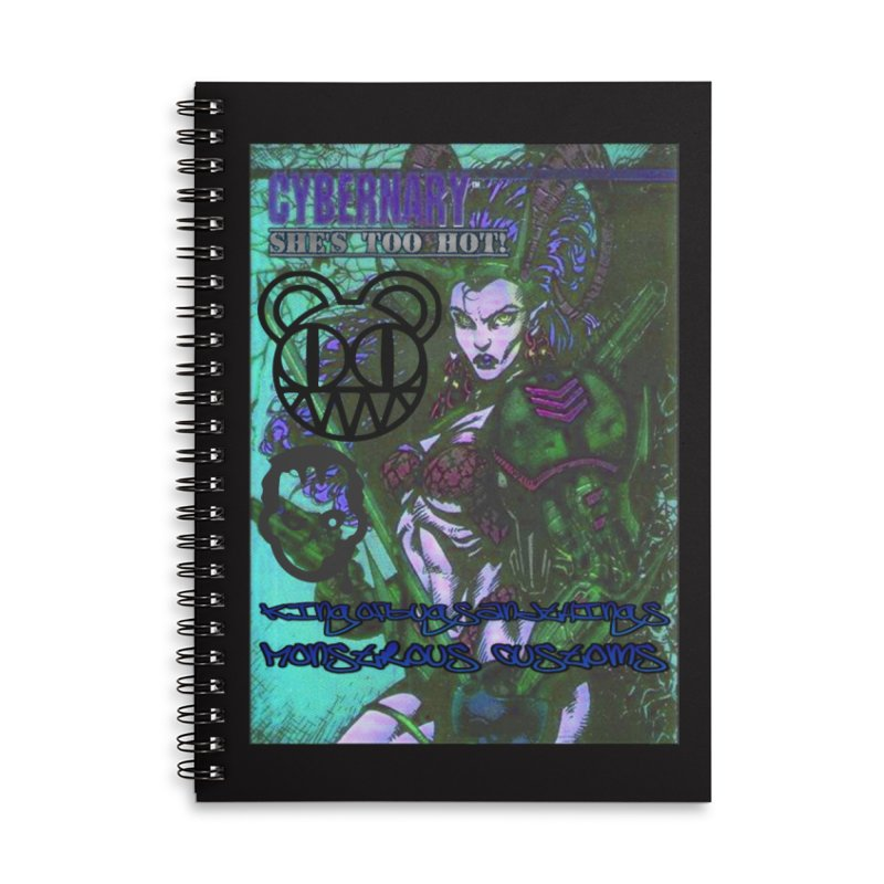 She's Too Hot Accessories Lined Spiral Notebook by Monstrous Customs