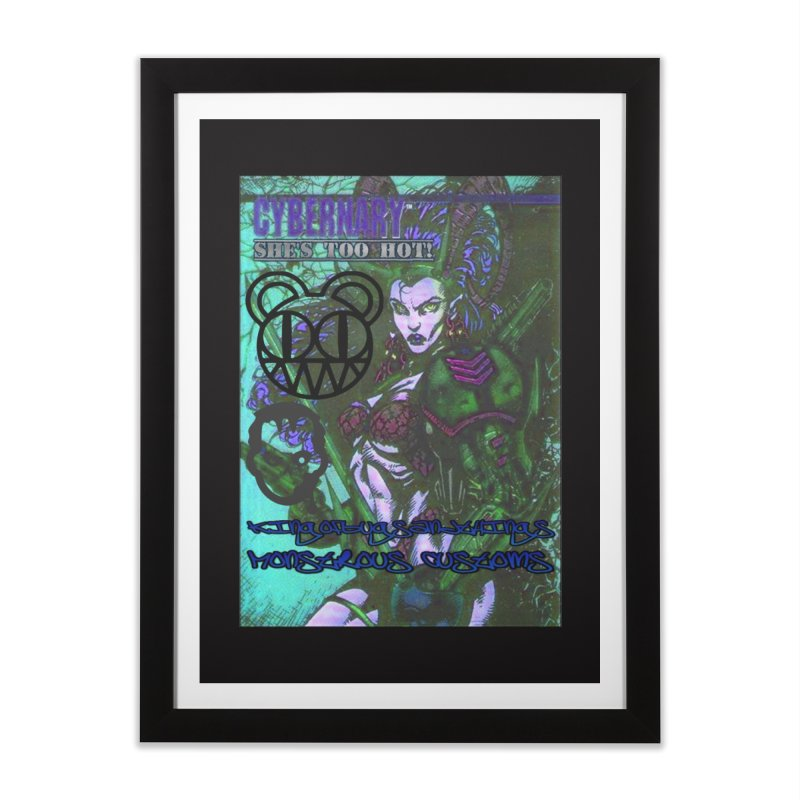 She's Too Hot Home Framed Fine Art Print by Monstrous Customs