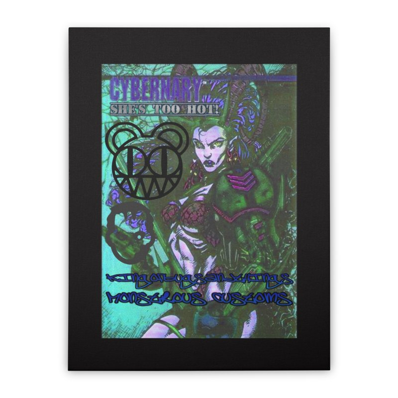 She's Too Hot Home Stretched Canvas by Monstrous Customs