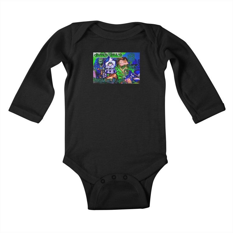 Airhead Genius Kids Baby Longsleeve Bodysuit by Monstrous Customs