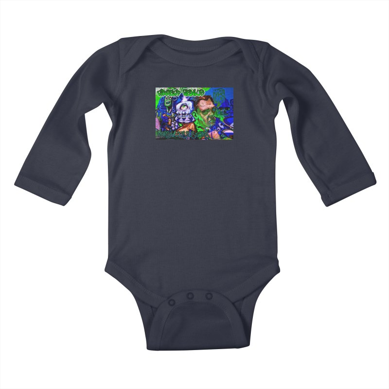 Airhead Genius Kids Baby Longsleeve Bodysuit by Monstrous Customs