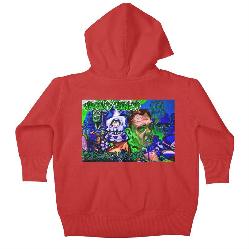 Airhead Genius Kids Baby Zip-Up Hoody by Monstrous Customs