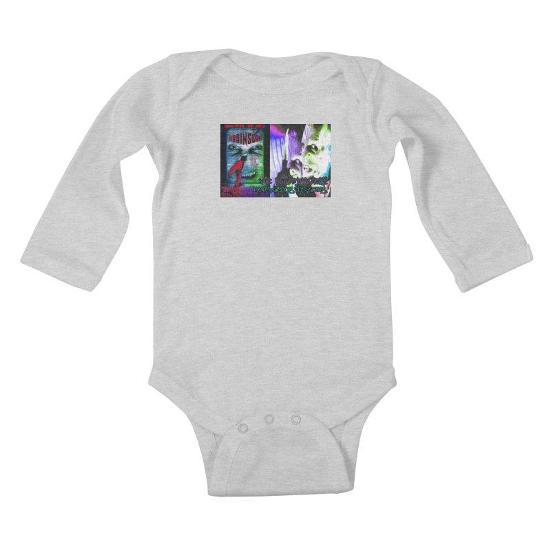 Scan Your Brain! Kids Baby Longsleeve Bodysuit by Monstrous Customs