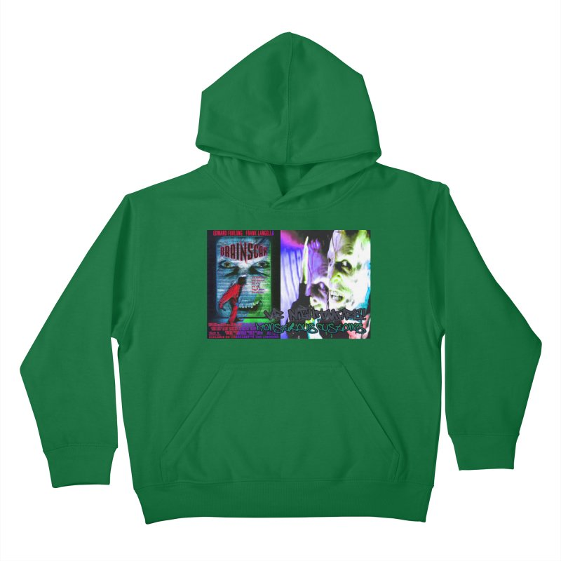 Scan Your Brain! Kids Pullover Hoody by Monstrous Customs
