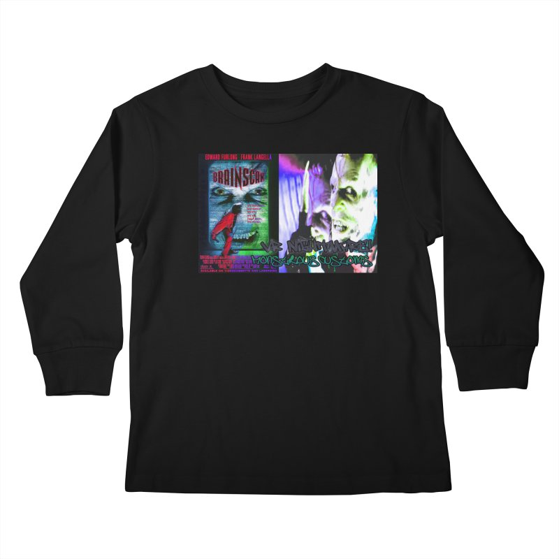 Scan Your Brain! Kids Longsleeve T-Shirt by Monstrous Customs
