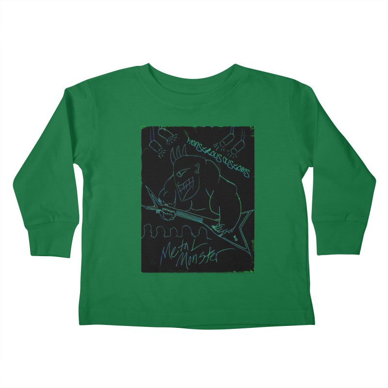 Metal Monster Kids Toddler Longsleeve T-Shirt by Monstrous Customs