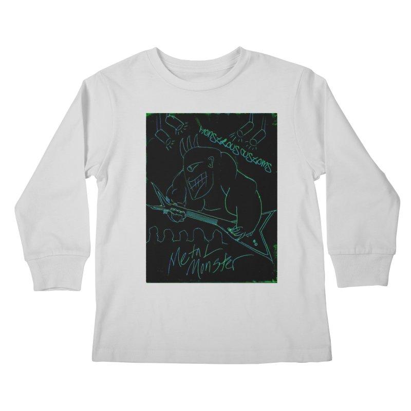Metal Monster Kids Longsleeve T-Shirt by Monstrous Customs
