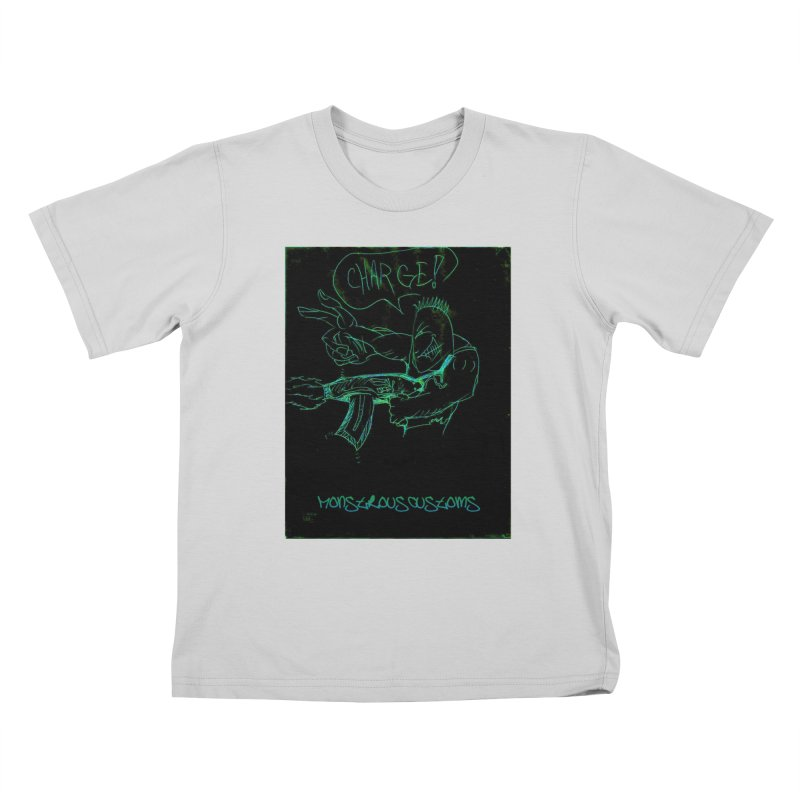 Alien Foot Soldier Kids T-Shirt by Monstrous Customs