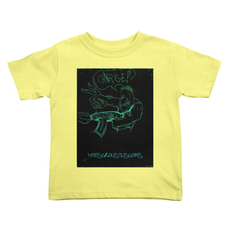 Alien Foot Soldier Kids Toddler T-Shirt by Monstrous Customs