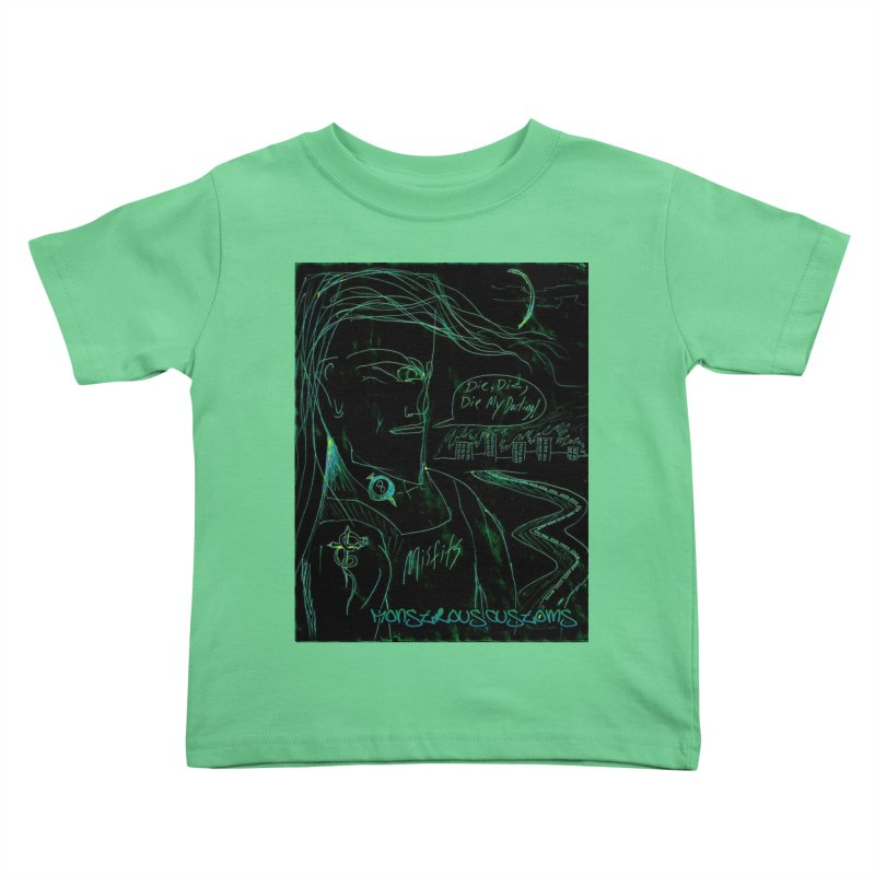Misfits Maniac Kids Toddler T-Shirt by Monstrous Customs