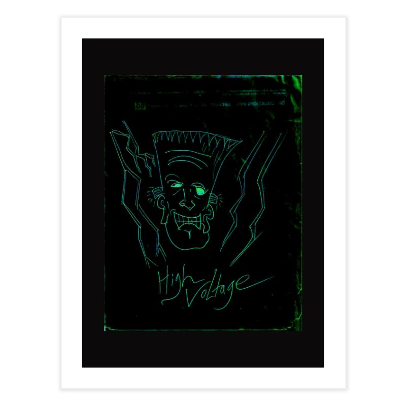 High Voltage Frank Home Fine Art Print by Monstrous Customs